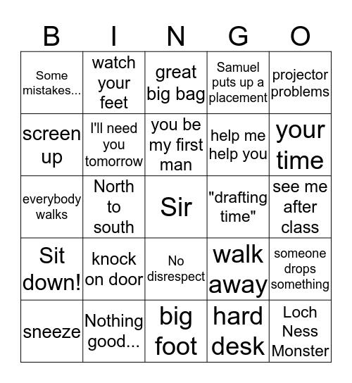Doc Fitz Bingo Card