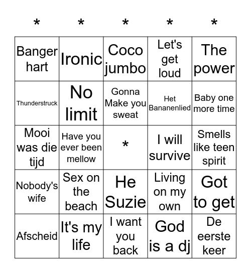SWiNGO! Bingo Card