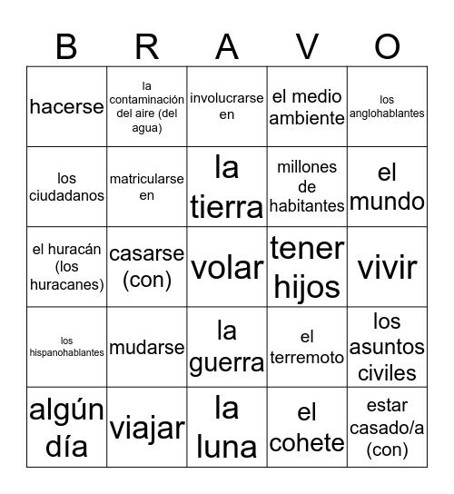 En el futuro Bingo Card