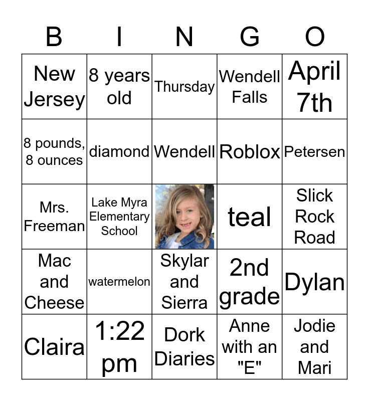 All About Brooklyn Bingo Card