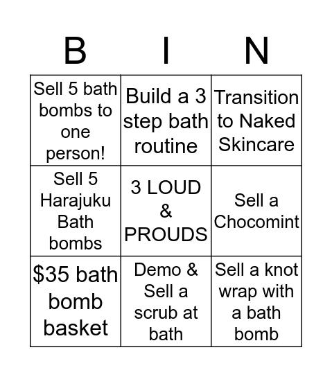 Celebration Bomb Bingo Card
