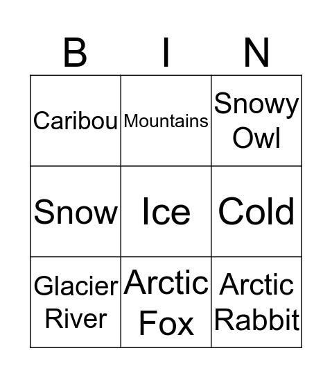 The Tundra Bingo Card