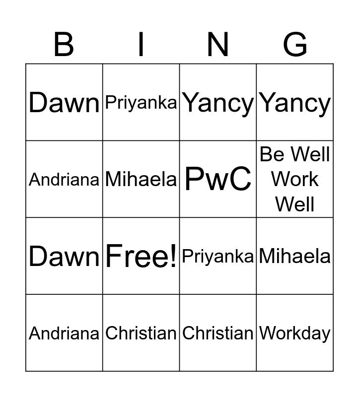 STA BINGO! Bingo Card