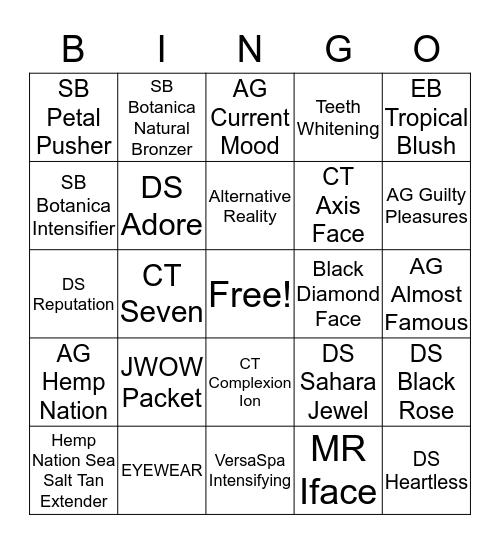 April Bingo Card