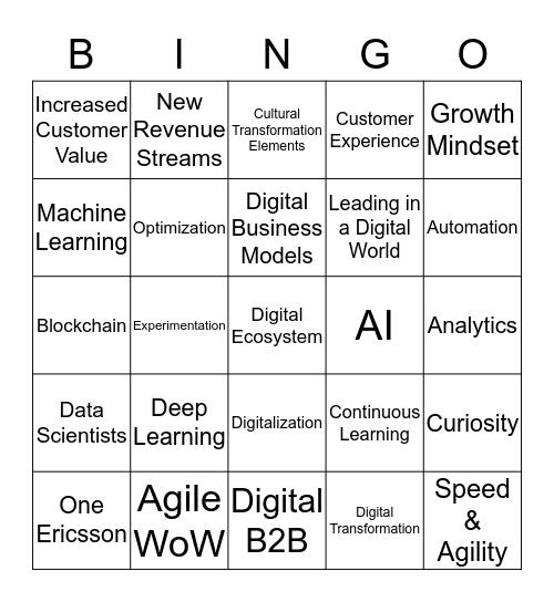///E DT Bootcamp Bingo Card