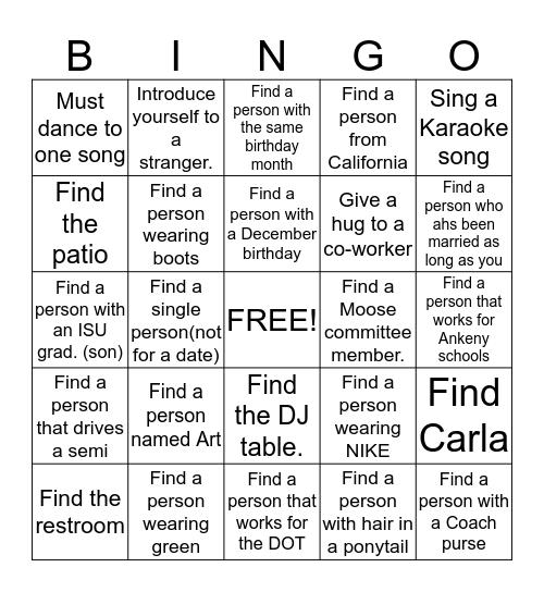 FIND IT!! Bingo Card