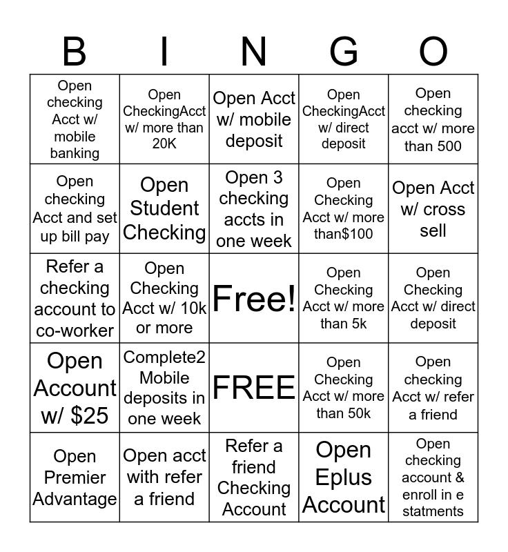 Spring Break BINGO! Bingo Card