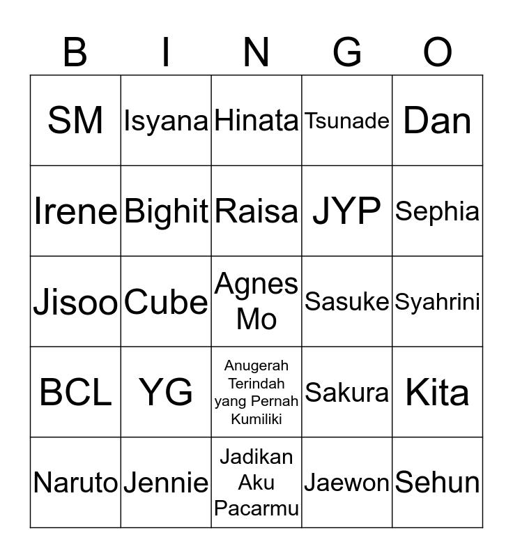 R E T T A Bingo Card
