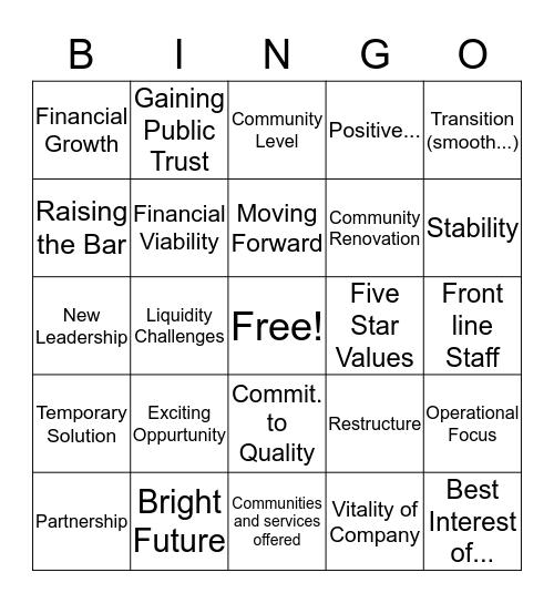 Conference Call 2019! Bingo Card