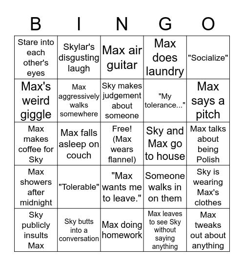 Skax Bingo Card
