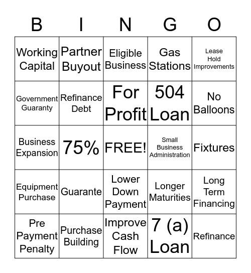 S  B  A Bingo Card