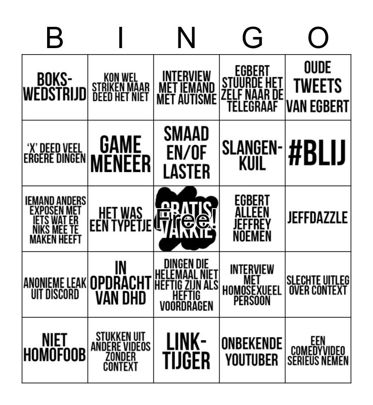 #KINGGATE BINGO! Bingo Card