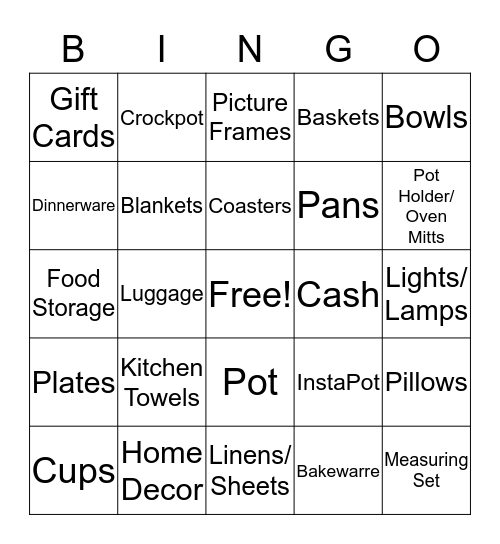 Summer & Logan Bingo Card