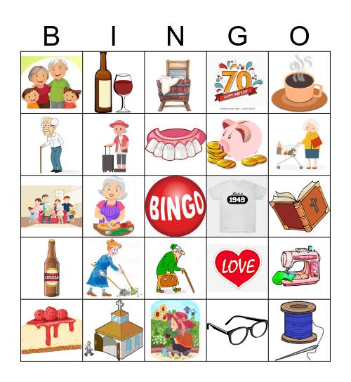CHEERS TO 70 YEARS Bingo Card
