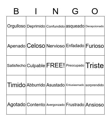 Emotions(: Bingo Card