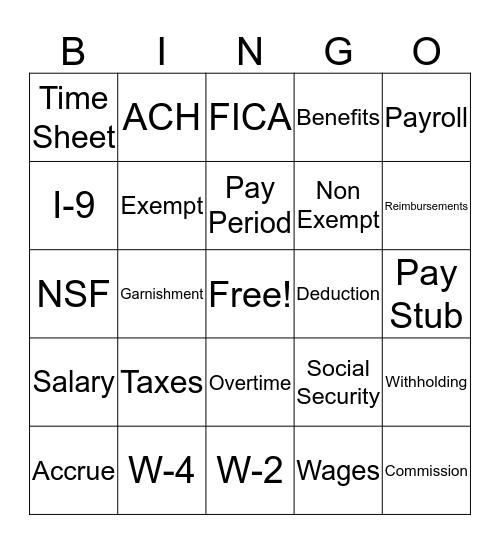 BenefitMall Bingo! Bingo Card