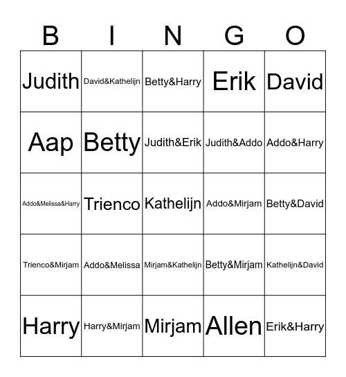 KosNobHamWeekend Bingo Card