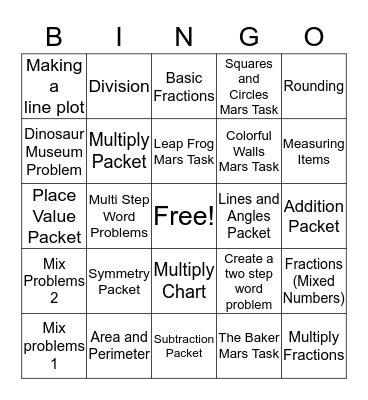 Review Bingo (Ice Cream Party) Bingo Card