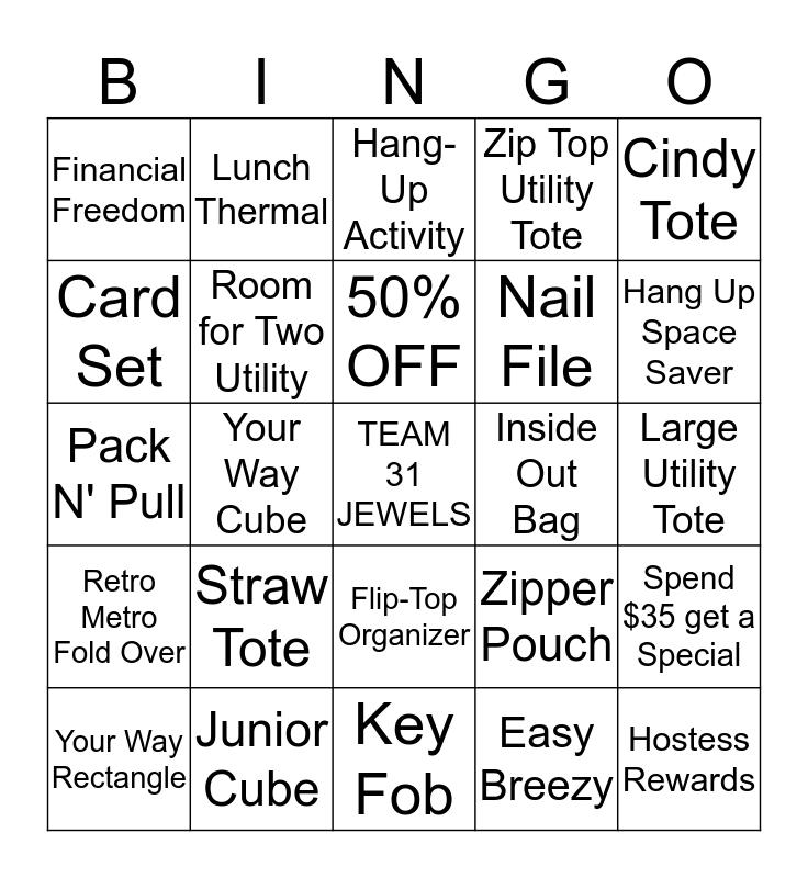 THIRTY-ONE GIFTS Bingo Card