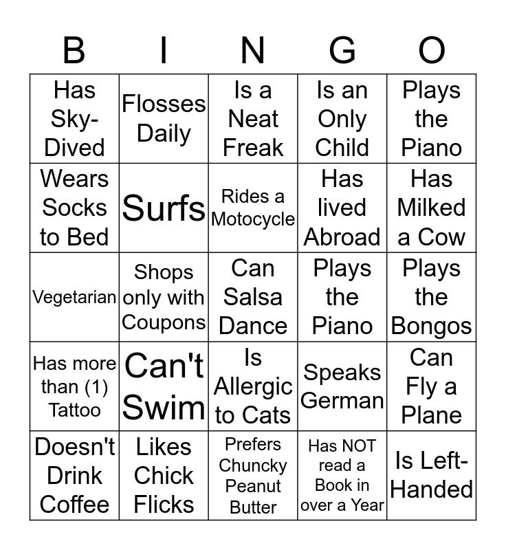 Bosch ~ Co-Op Meet and Greet Bingo Card