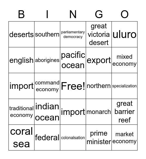 hunter Bingo Card