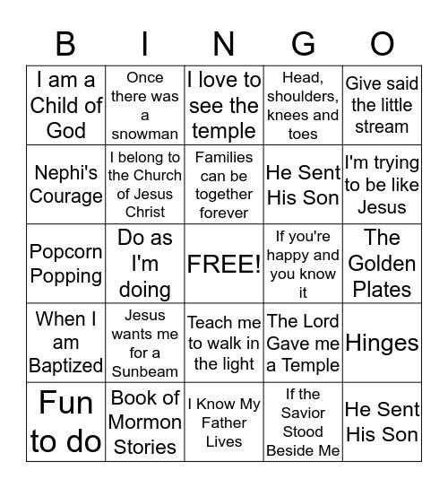 SINGO!!! Bingo Card