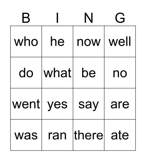 Reading is Awesome! Bingo Card