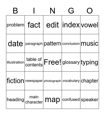 Tier Three Bingo Card