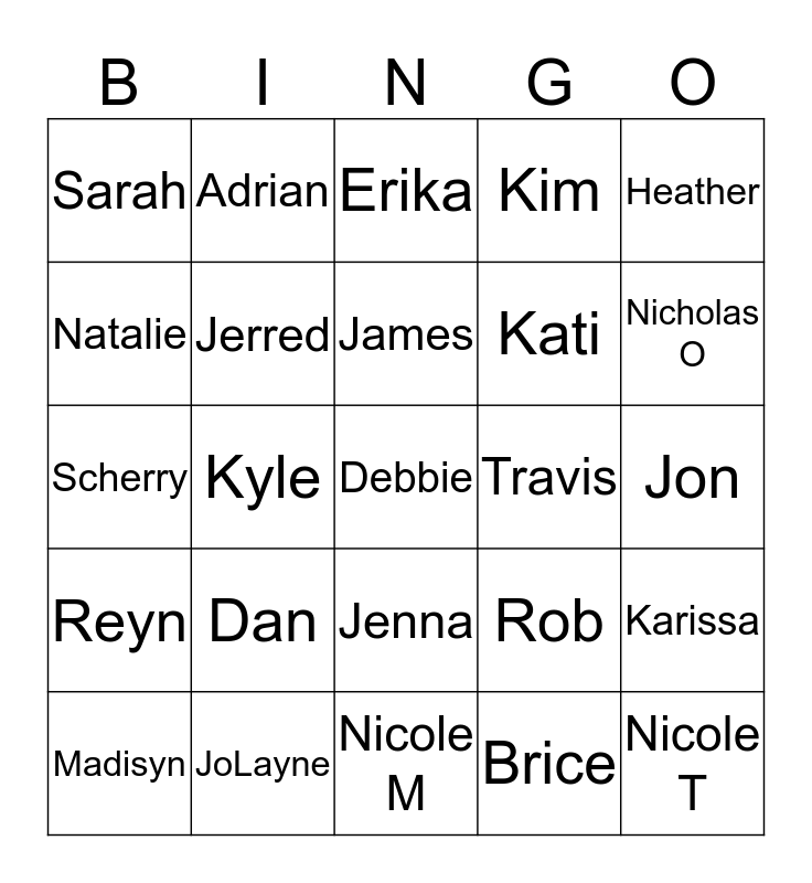 The Vig Bingo Card