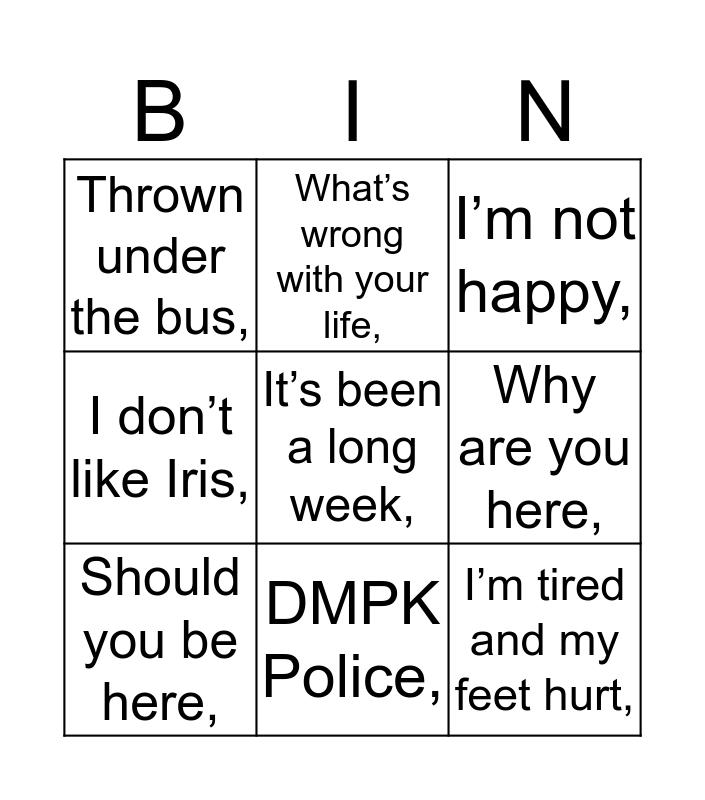 Will Bingo Card