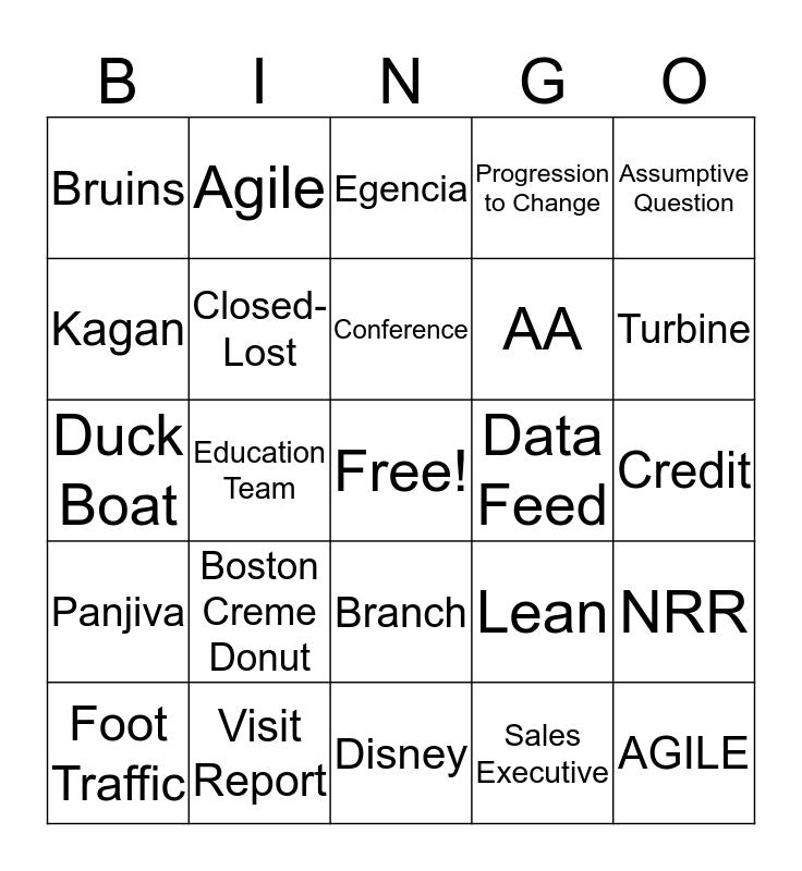 Industry Product Specialist Bingo Card
