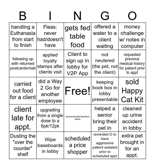 Administrative Week Bingo Card