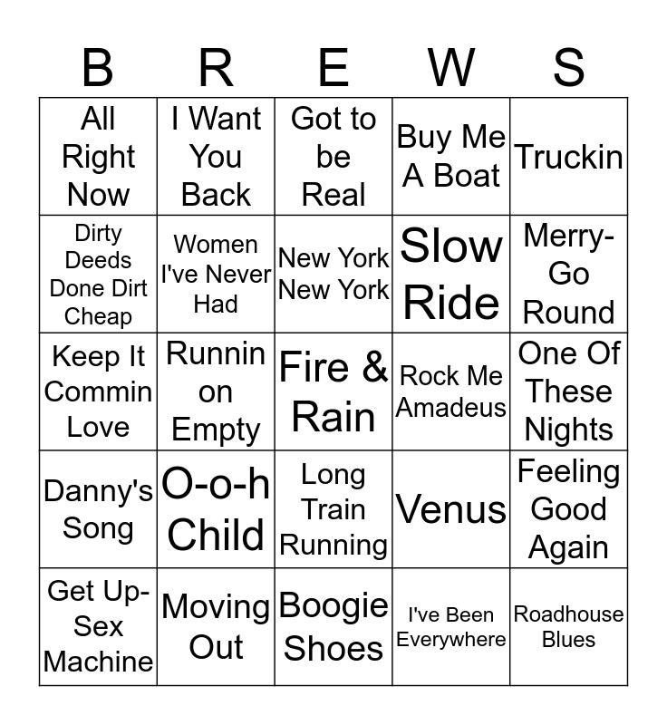Boondocks Brews, Beats & Bingo 32-10 Bingo Card