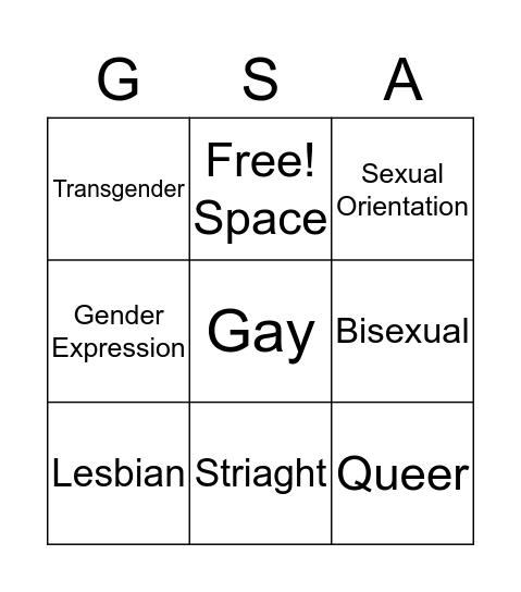 LGBTQ Bingo!!!! Bingo Card