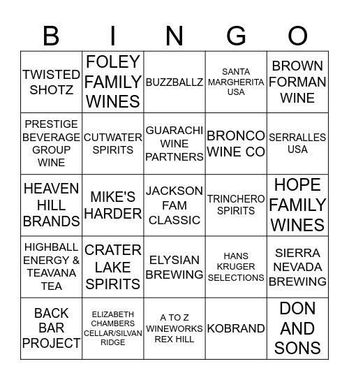 2019 K&L Tradeshow Bingo Card