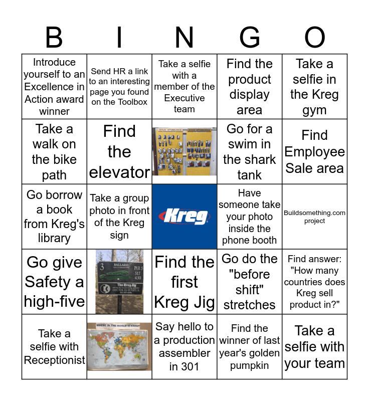 Kreg Tool BINGO! Bingo Card