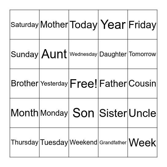 1 Bingo Card