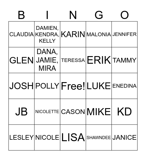 Flagstone Retreat Bingo Card