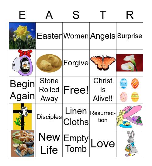 Easter Symbols Bingo Card