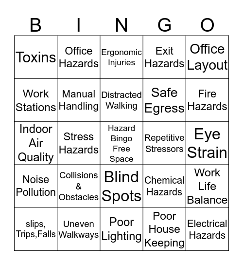 International Paper  Bingo Card
