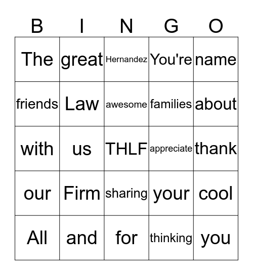 Spring Fling 2019 Bingo Card