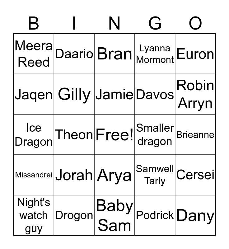Steph 2 Bingo Card