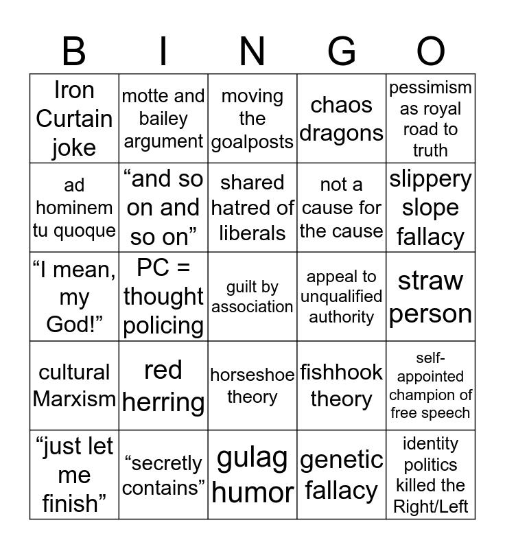 A Battle of (Nit)Wit(s) Bingo Card