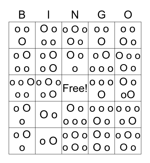Word Stress Bingo Card
