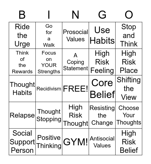 SSIC Bingo Card