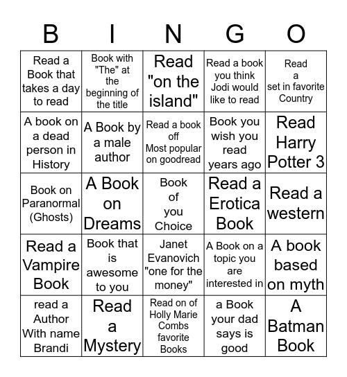 Brandi's Reading Bingo Card