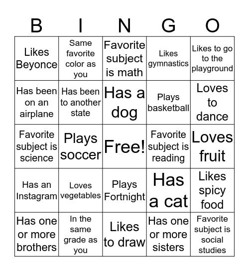 City Year Comcast Cares Day FunZone Bingo Card