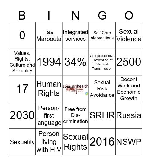 HIV/AIDS & SRHR Bingo Card