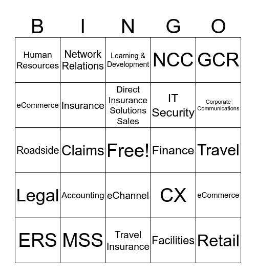 CAA Bingo Card