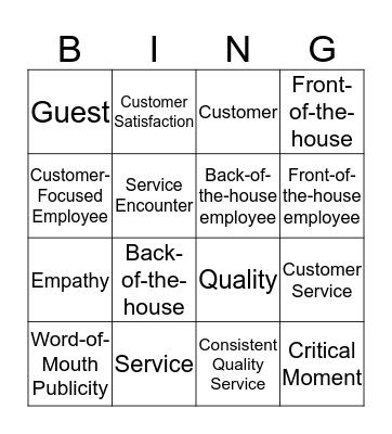 CHAPTER 2! Bingo Card